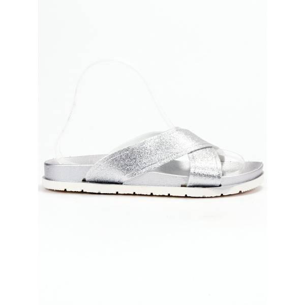 EMAKS дамски сребърни чехли