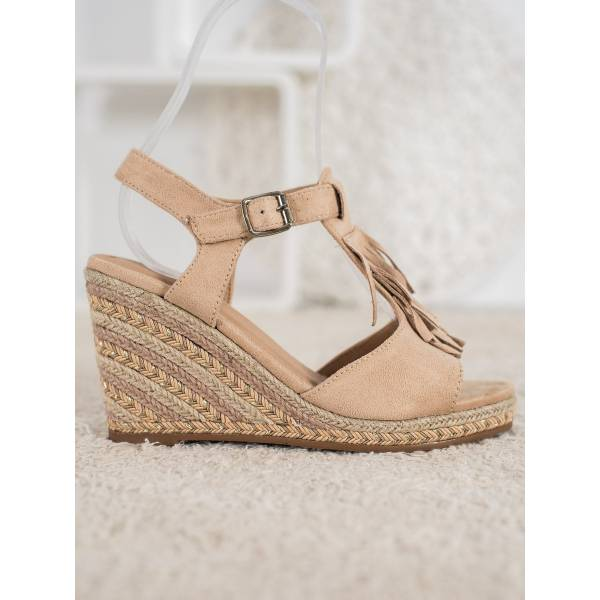SMALL SWAN дамски сандали с висока платформа