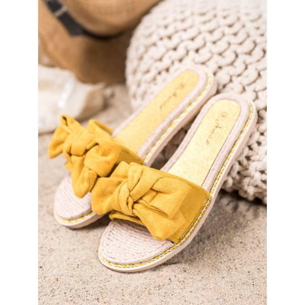 ANESIA PARIS дамски модерни чехли с панделка