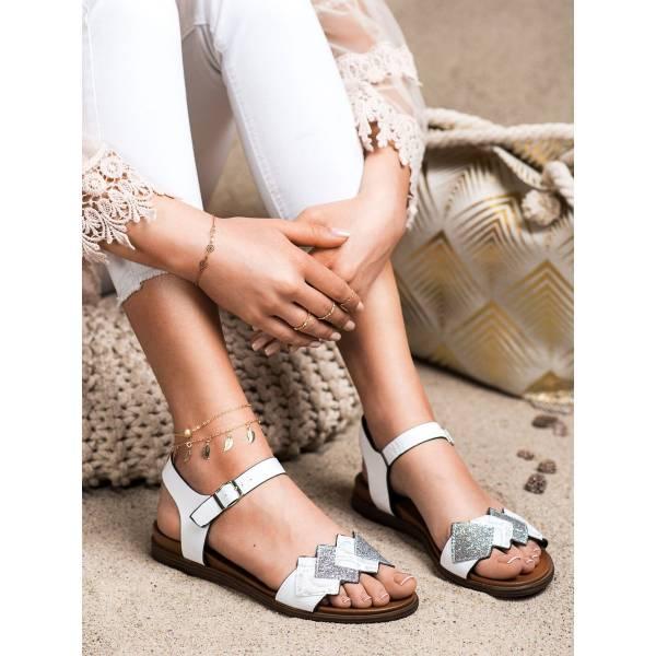 SERGIO LEONE дамски ниски сандали с декорация