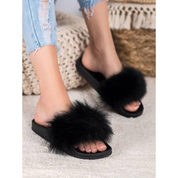 SEASTAR дамски чехли с пух
