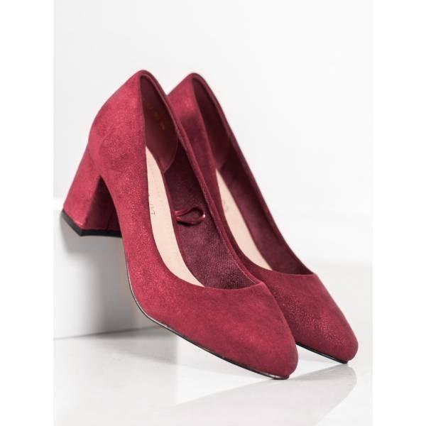 VINCEZA дамски велурени обувки с ток