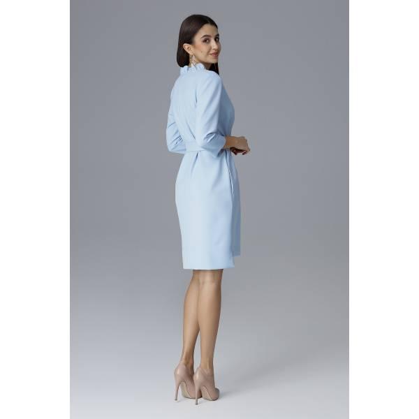 FIGL дамска къса рокля с колан