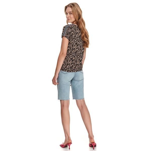 DRYWASH дамска блуза с къс ръкав