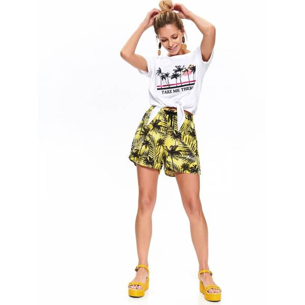 DRYWASH дамски къси панталони с флорални мотиви