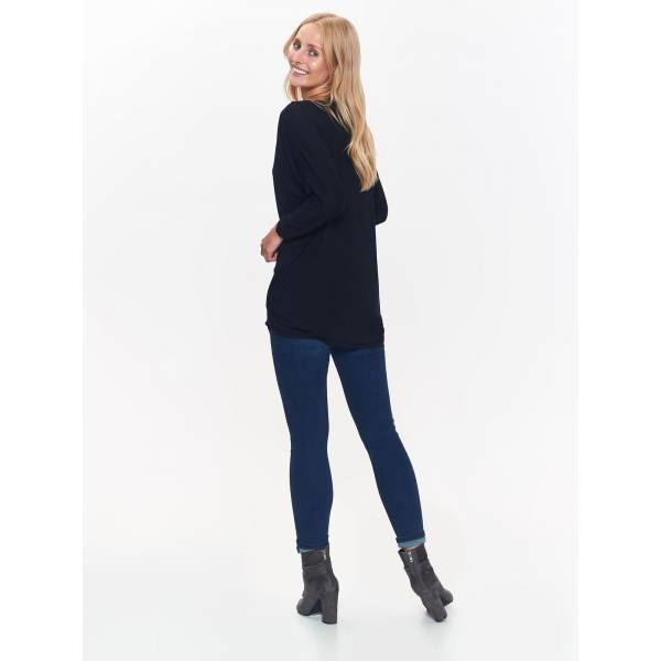 TOP SECRET дамска блуза с дълъг ръкав и обло деколте