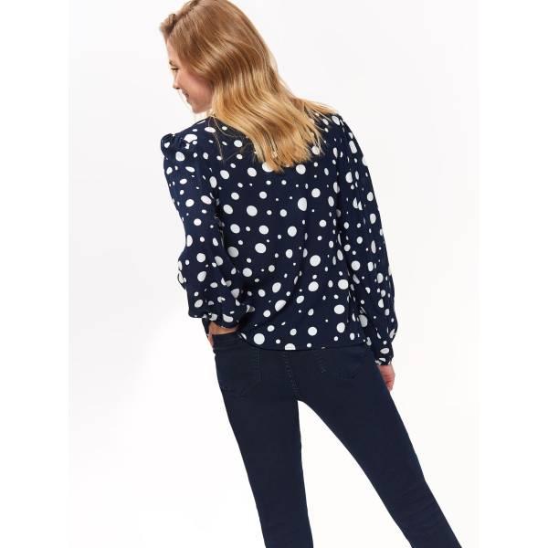 TOP SECRET дамска блуза с дълъг ръкав и триъгълно деколте