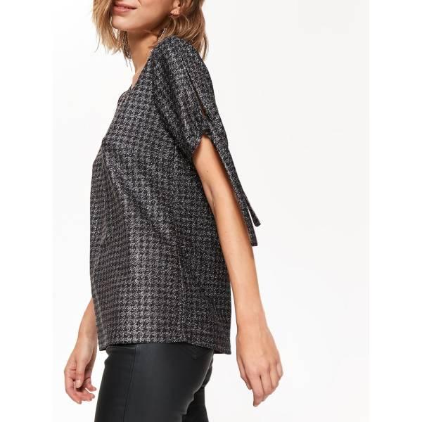 TOP SECRET дамска блуза с къс ръкав и обло деколте