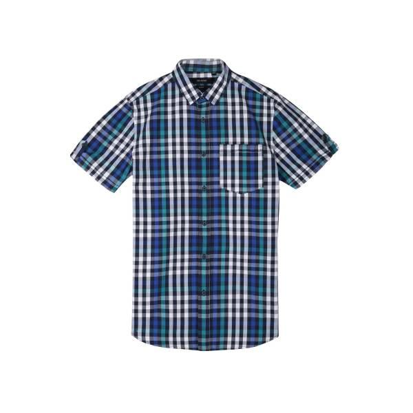 TOP SECRET мъжка карирана риза с къс ръкав