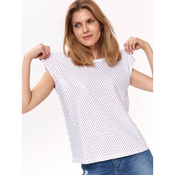 59f9c7887cd Top Secret дамска блуза с къс ръкав на точки - 029320