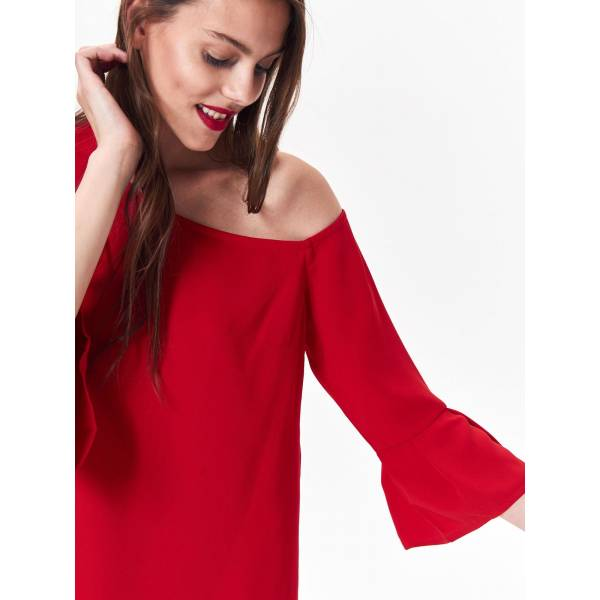 TOP SECRET дамска къса рокля със 7/8 ръкави