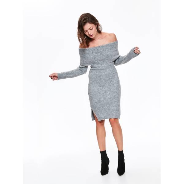 TOP SECRET дамска плетена рокля с голи рамене