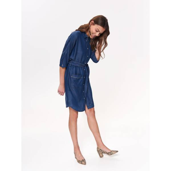 TOP SECRET дамска дънкова рокля с копчета