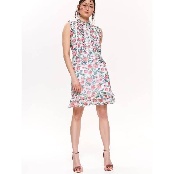 TOP SECRET дамска къса рокля с флорални мотиви