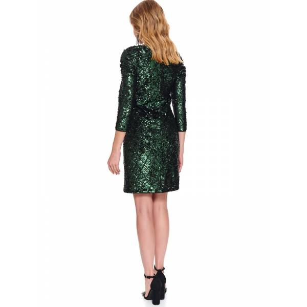 TOP SECRET дамска елегантна рокля с лъскав ефект