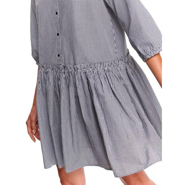 TOP SECRET дамска къса карирана рокля