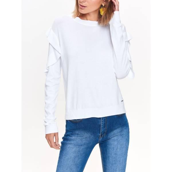 TOP SECRET дамска блуза с дълъг ръкав и волани